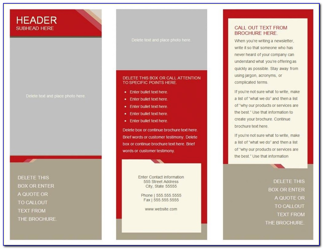 Tri Fold Brochure Template Free Psd