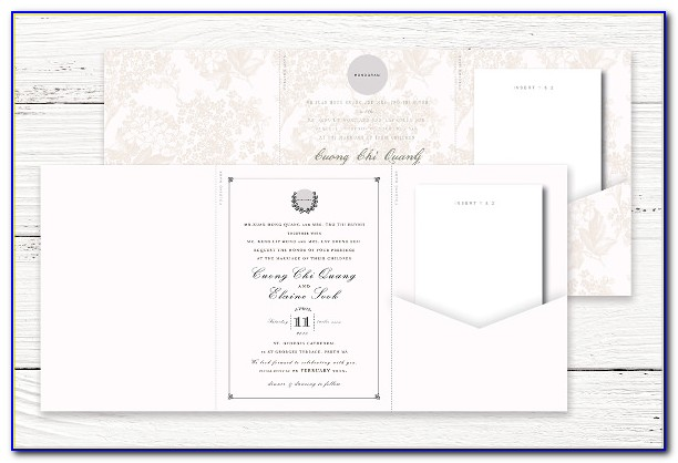 Tri Fold Wedding Invitation Templates