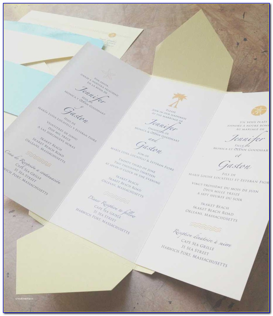 Free Tri Fold Wedding Program Templates New Tri Fold Wedding Invitations Kawaiitheo