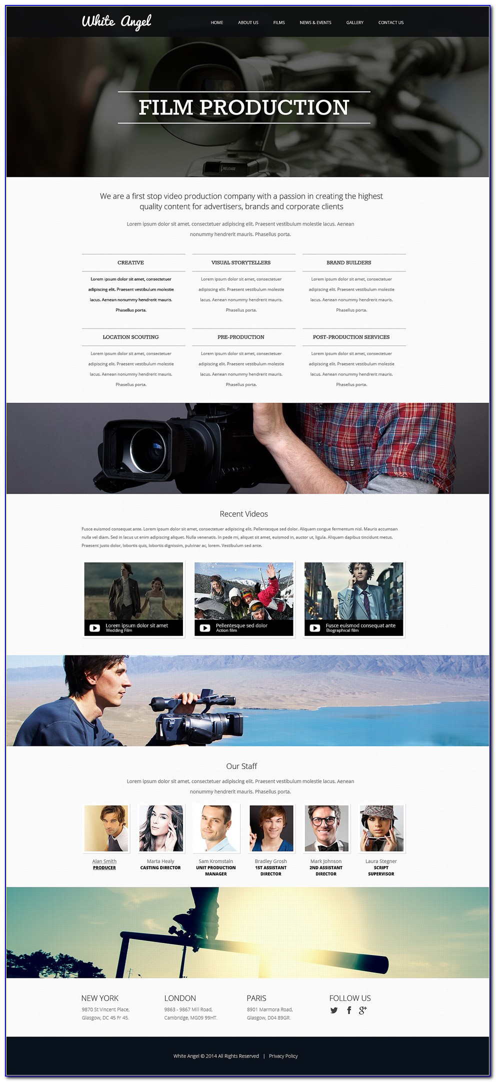 Videographer Website Template Free