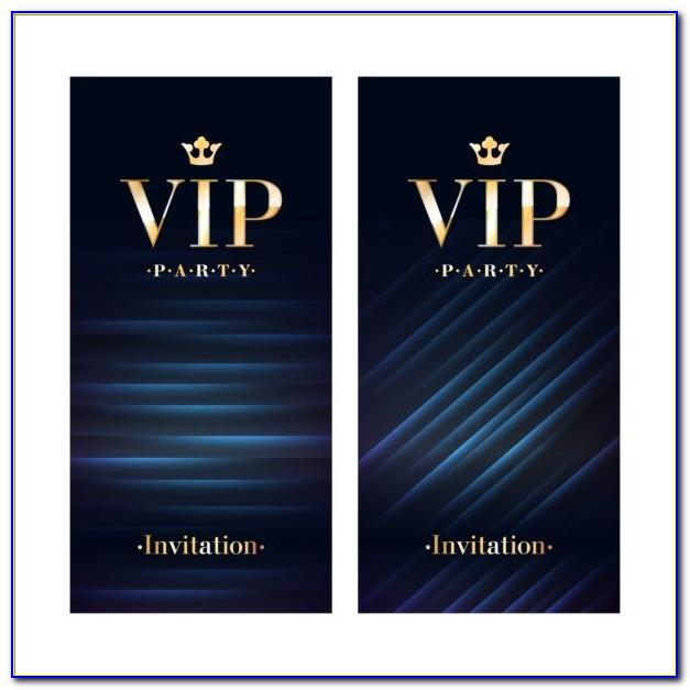 Vip Invitation Template Free