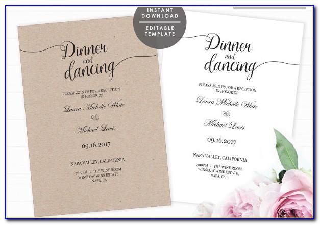 Wedding Dance Invitations Template
