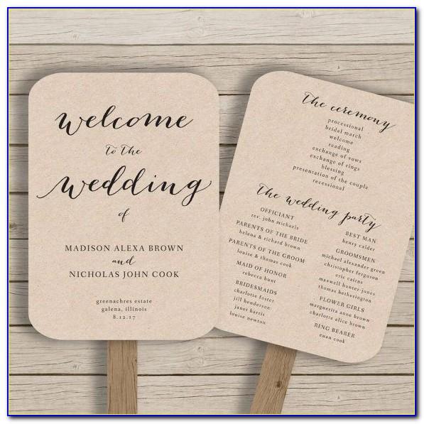Wedding Programs Fans Templates Free