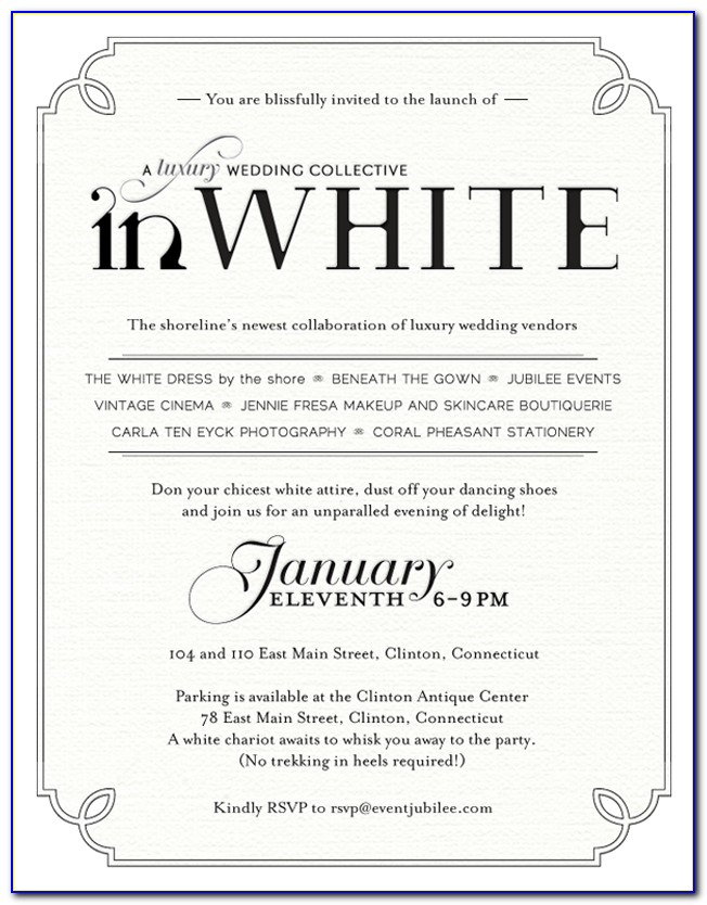 White Christmas Party Invitation Template