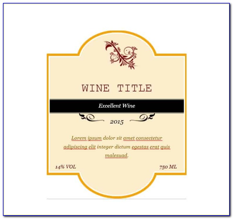 Wine Sticker Template Psd