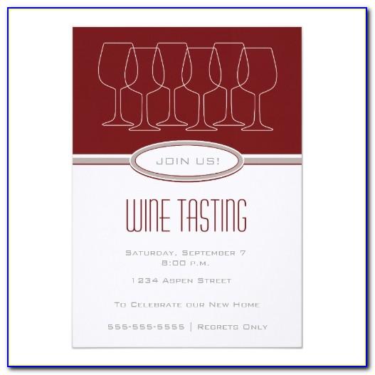 Wine Tasting Event Invitation Template