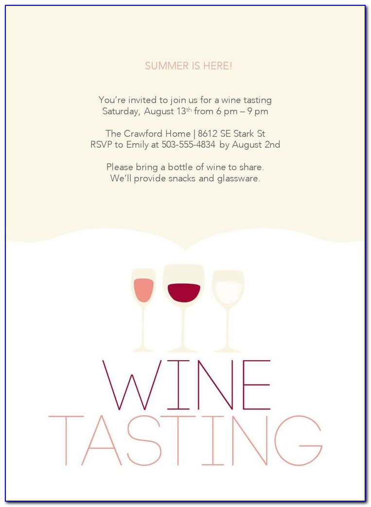 Wine Tasting Party Invitation Template