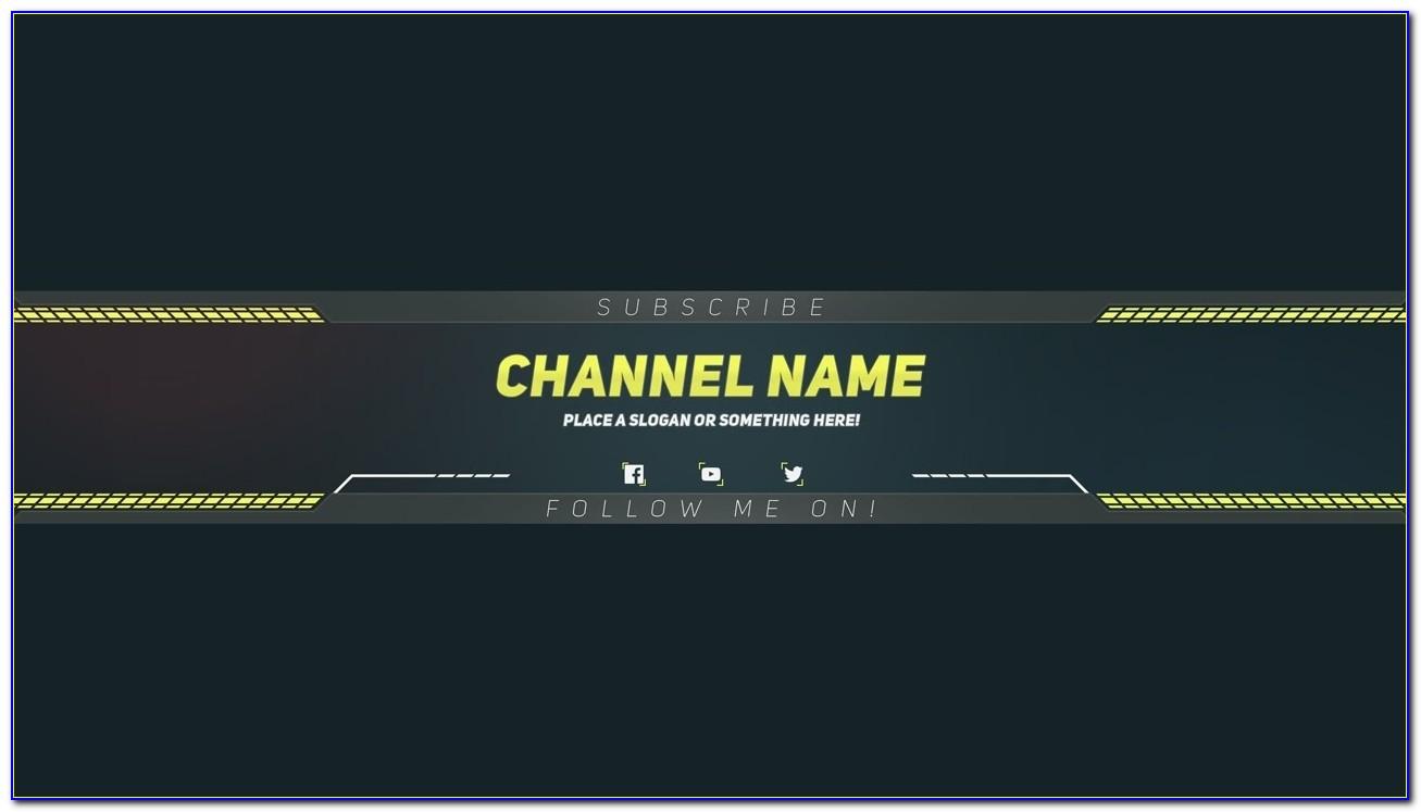 Premium Youtube Banner Template Photoshop Template Youtube Intended For Youtube Channel Banner Template