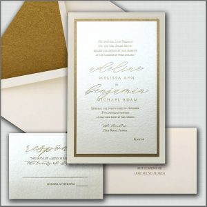 Elegant Wedding Invitations Gold