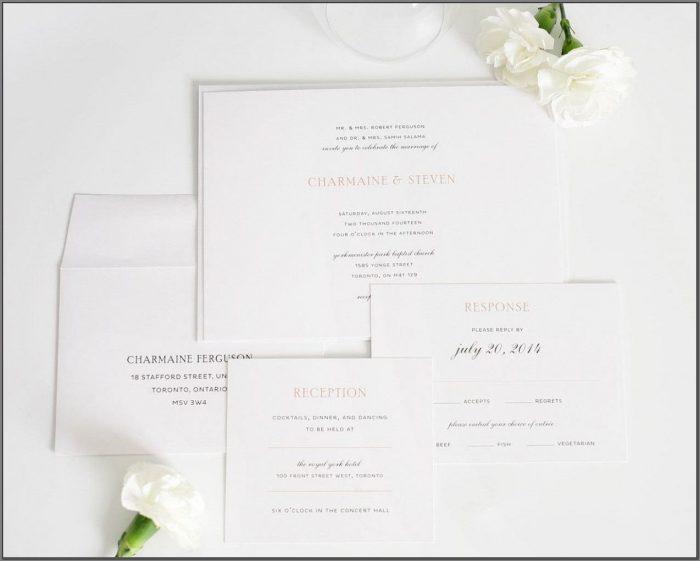 Elegant Wedding Invitations With Photo