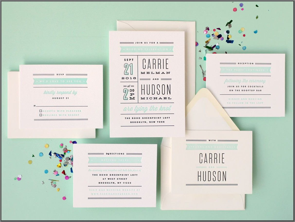 Minted Wedding Invitations Letterpress