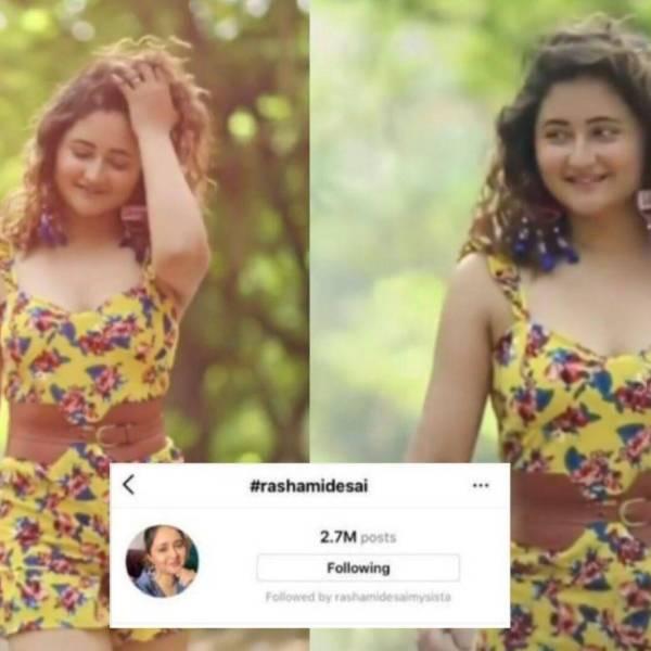 Rashami Desai instagram hashtags