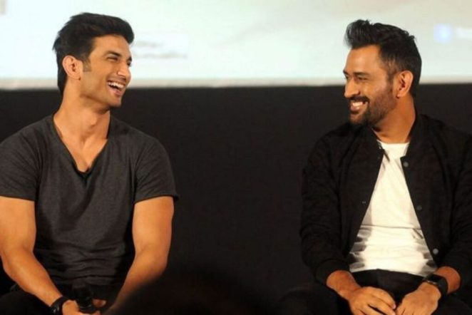 Sushant Singh Rajput MS Dhoni during movie promotion