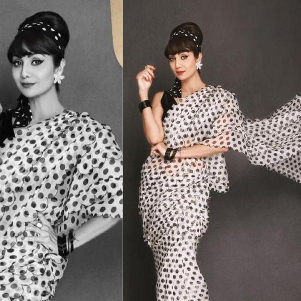 Hungama 2 Actor Shilpa Shetty Kundra Looks Ravishing In Retro Look