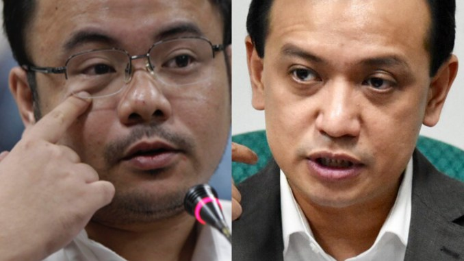 Senator Antonio Trillanes filed a cyber-libel case against Thinking Pinoy blogger RJ Nieto. [Image Credit: Rappler]