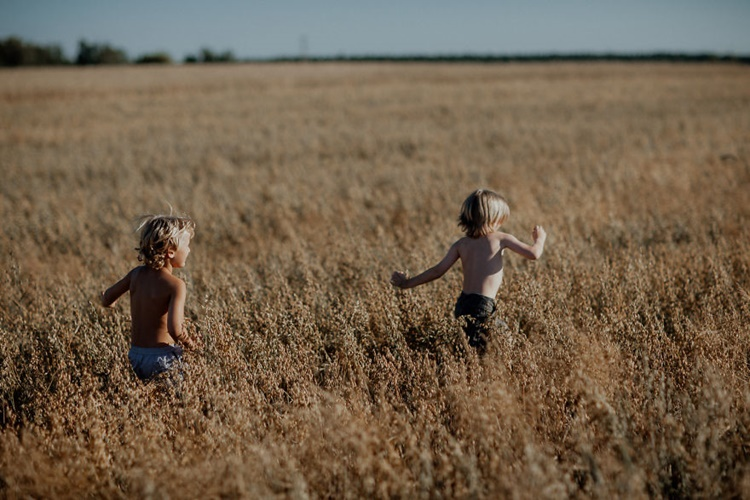Kids Playing in the Field