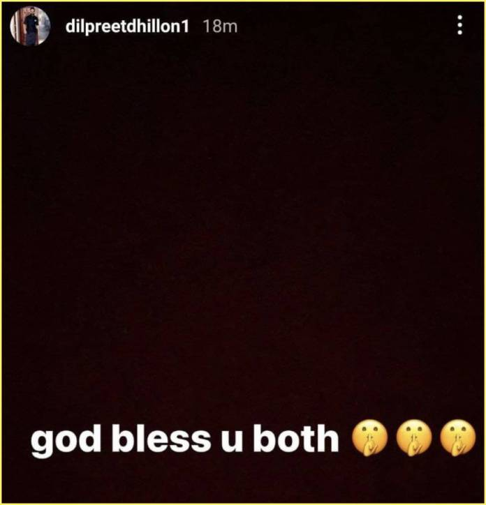 Dilpreet Dhillon give blessings to aamber dhillon for her new boyfriend