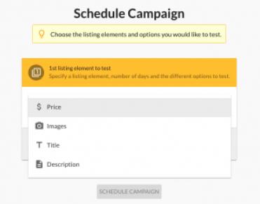 Schedule Amazon Split Testing Campaign