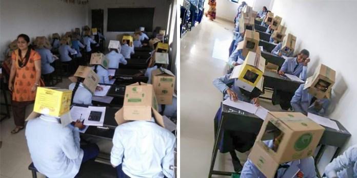 #14 Anti-cheating cardboard boxes