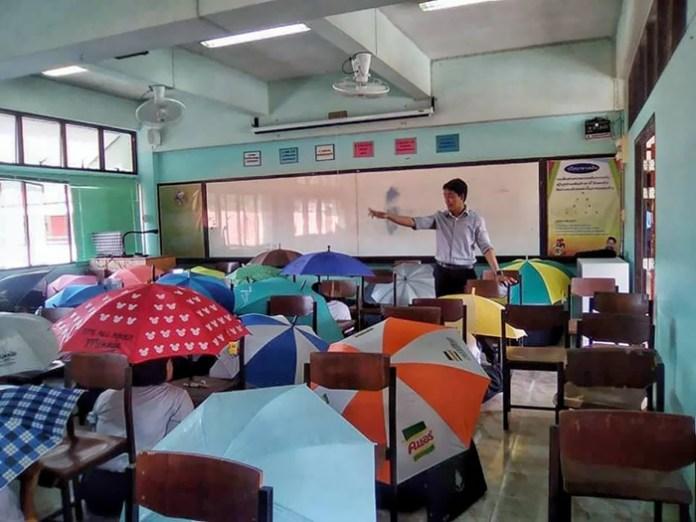 #12 Anti-cheating umbrellas