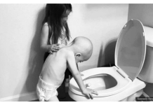 Heart Touching Photos Shows Sister Comforting Her Little Brother Battling Leukemia