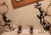 Banksy is a well-known artist lives in the United Kingdom. Recently he made their bathroom to a fascinating place literally it is not one of a place of pleasant.