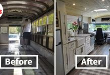 Couple Spends A Year And A Half Converting An Old '90s School Bus Into A Cozy Home Going Boundless