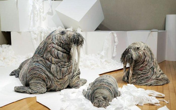 Japanese Artist Tightly Rolls Newspaper To Create Incredibly Realistic Animal Sculptures Chie Hitotsuyama