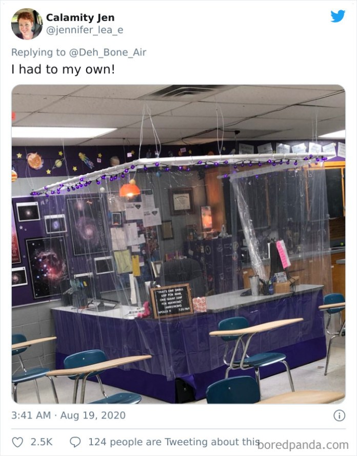 Teachers Who Tried To Make Their Socially Distanced Classrooms Look Less Scary And Succeeded Covid19 after school DIY