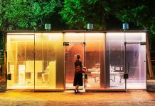 Tokyo's See-Through Public Toilets Let People See How Clean They Are Before Entering