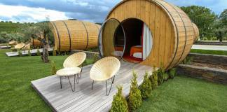 You Can Now Drink Wine All Day Long and Sleep In a Wine Barrel. Quinta da Pancheca located in Douro, Portugal