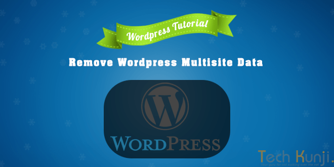 Remove WordPress Multisite data