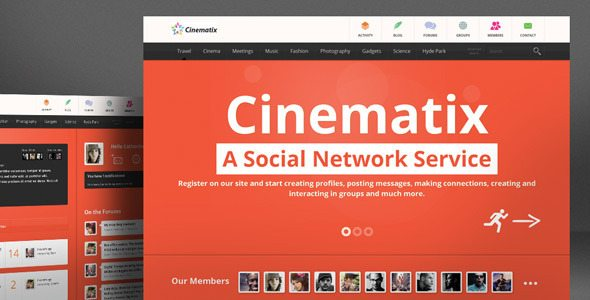 cinematix buddypress wordpress theme free download