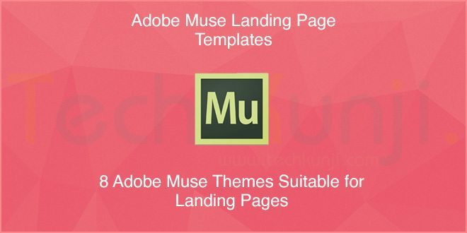 8 Adobe Muse Templates perfect for Landing Pages [2014] | Viral