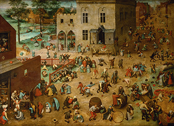 Fig 1. Bruegel the Elder, Pieter. Children's Games, 1560.  Kunsthistorisches Museum, Vienna. Web. 15 November 2015.