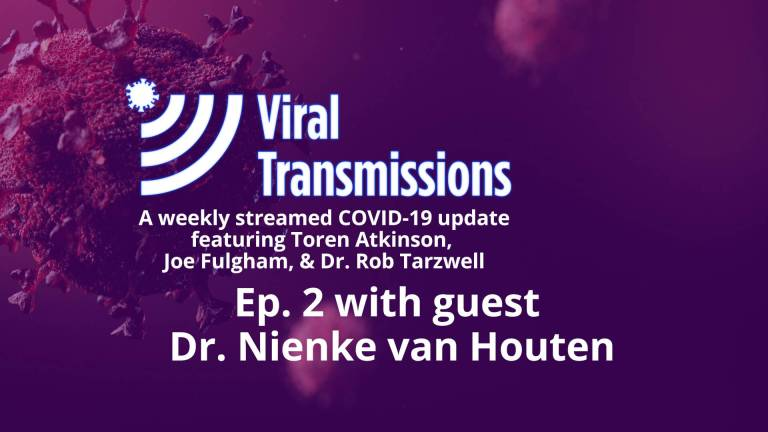 Viral Transmissions Ep. 2 title card - with Dr. Nienke van Houten