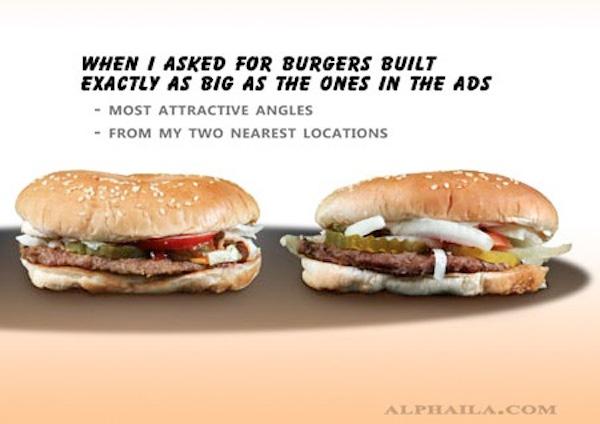 Fastfood realiteit vs advertentie