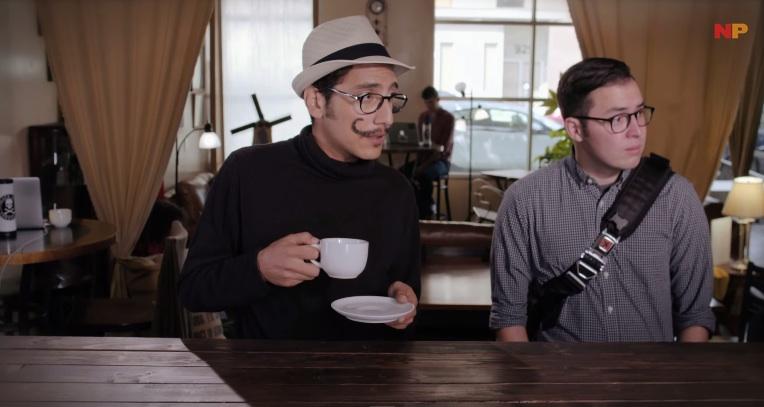 werken als barista met hipsters