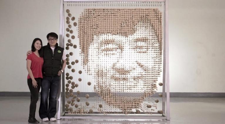 Jackie Chan van eetstokjes