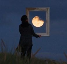 enmarca la luna