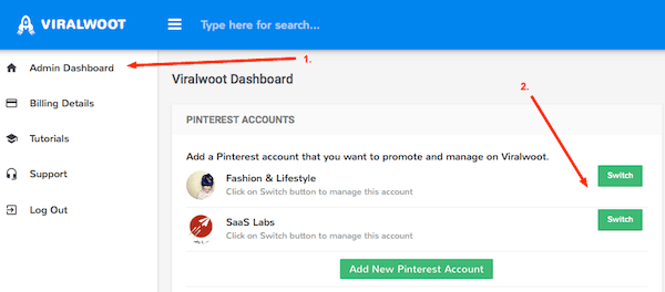 Manage Pinterest Accounts