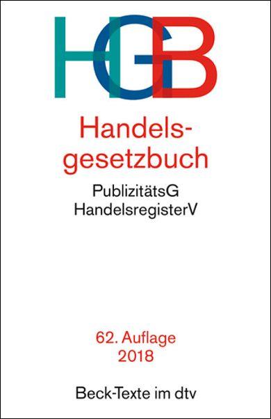 HANDELSGESETZBUCH HGB 62 Auflage 2018 Beck Texte Im Dtv