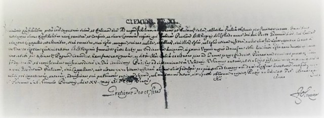 Bula del Papa Clemente XI