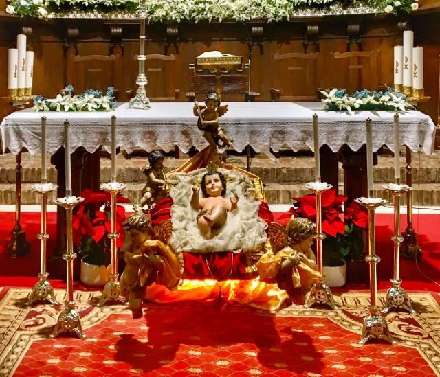 El Niño Jesús en el santuario de Santa María del Collado.