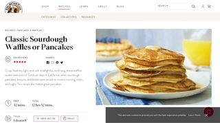 Classic Sourdough Waffles or Pancakes | King Arthur Flour