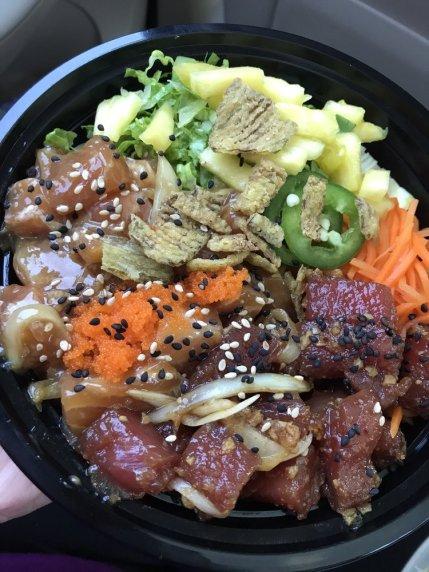 Photo of Tuna and Salmon Shoyu Poke. Courtesy of Yelp.com.