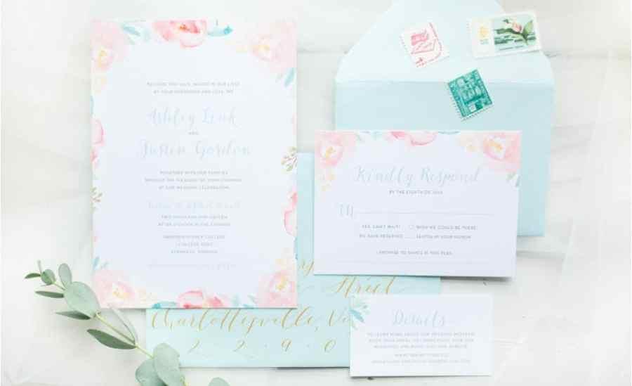 wedding invites and calligraphy