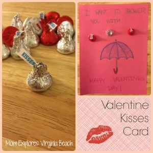 Valentine's Day kisses card craft
