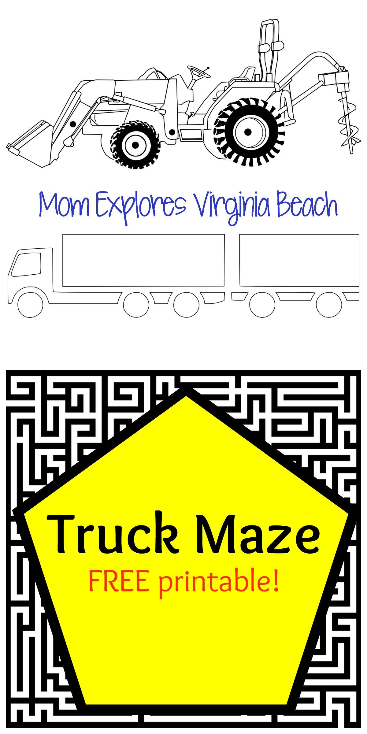 Truck Maze Free Printable