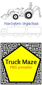 Truck Maze (free printable)